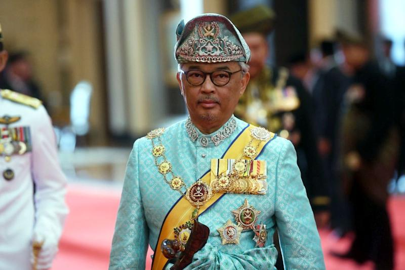 Yang di-Pertuan Agong Sultan Abdullah Ahmad Shah is pictured at Istana Negara, Kuala Lumpur January 31, 2019. — Bernama pic