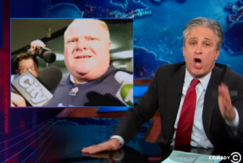 Jon Stewart: Toronto Crack Mayor Denies Cunnilingus Allegations (Video)