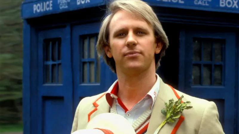 Peter Davison as the Doctor (Credit: BBC)
