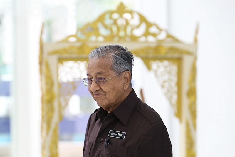 Prime Minister Tun Dr Mahathir Mohamad attends the launch of the National Heritage and Culture Charter in Kuala Lumpur September 20, 2019. — Picture by Yusof Mat Isa