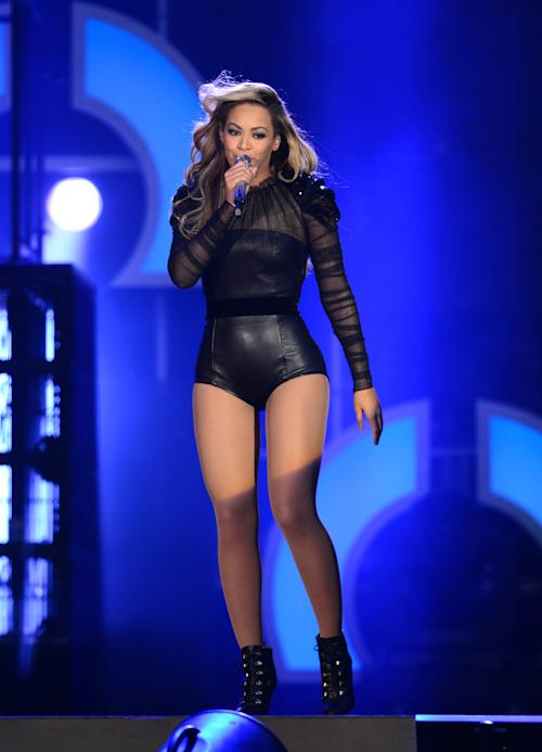 Beyonce performs at The Sound of Change Live at Twickenham Stadium in London on Saturday, June 1st, 2013. (Photo by Jon Furniss/Invision/AP Images)