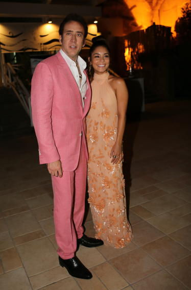 Nicolas Cage and Vanessa Hudgens attend the Ischia Global Fim Festival
