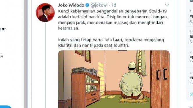 Jokowi Posting Ilustrasi Pria Salat Tuai Kritik, Roy Suryo Menganalisa