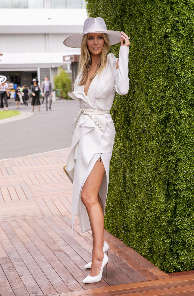 <p>2018 Derby Day arrivals. Photo: Media Mode </p>