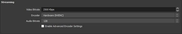 How to set stream settings in OBS