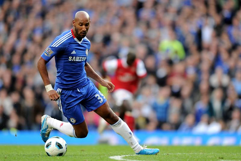 LONDON, ENGLAND - OCTOBER 03: Nicolas Anelka of Chelsea in action during the Barclays Premier League match between Chelsea and Arsenal at Stamford Bridge on October 3, 2010 in London, England. (Photo by Darren Walsh/Chelsea FC via Getty Images)