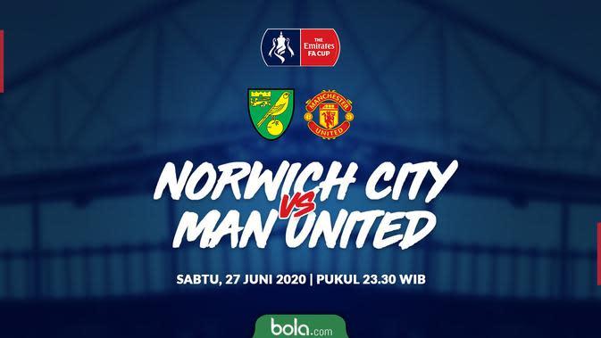 Piala FA: Manchester United Ditahan Imbang Norwich City, Lanjut ke Babak Tambahan