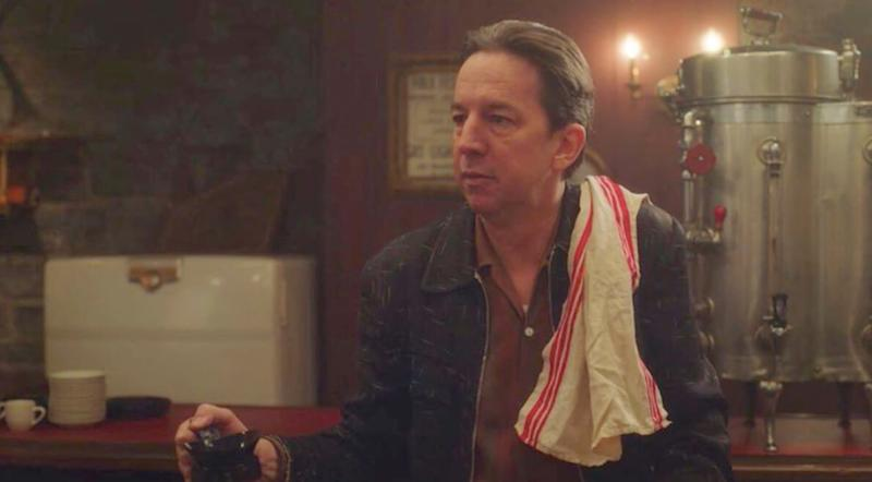 A photo of Brian Tarantina in character as Jackie on set of The Marvellous Mrs. Maisel.