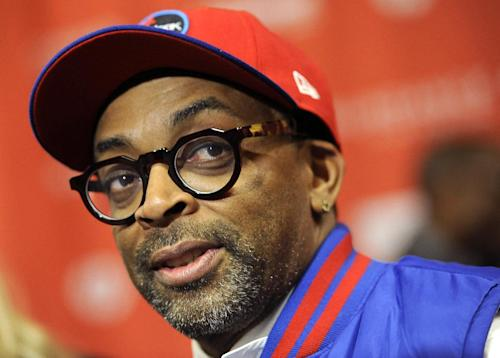 "FILE - This Jan. 22, 2012 file photo shows director Spike Lee at the premiere of the film """"Red Hook Summer"" at the 2012 Sundance Film Festival in Park City, Utah. Lee is working on a documentary about Michael Jackson's ""Bad"" album. Lee's documentary will be part a flood of material to celebrate the 25th anniversary of the ""Bad"" album, Jackson's follow-up to ""Thriller"" which included hits like the title track, ""Smooth Criminal,"" ""The Way You Make Me Feel"" and more. The album is being re-released Sept.18 with additional tracks, a DVD and other bonus material; Lee's film is due to come out later this year, but no date has been set. (AP Photo/Chris Pizzello, file)"
