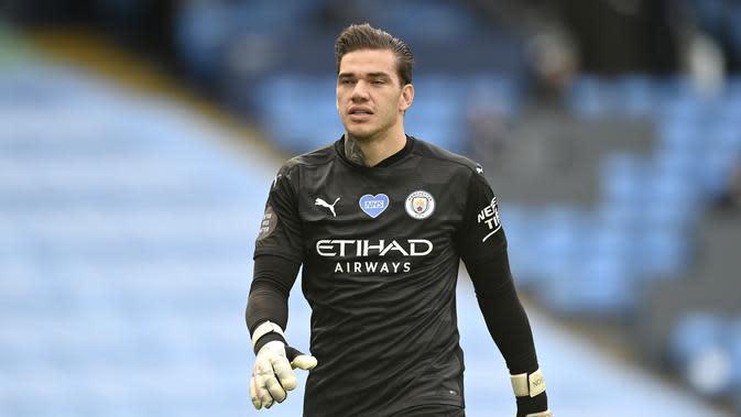 Kiper Manchester City, Ederson Moraes. (Shaun Botterill/Pool via AP)
