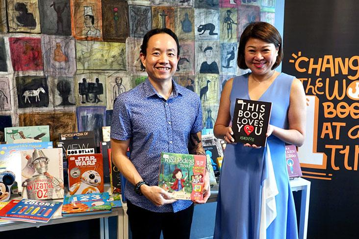 Andrew Yap and Jacqueline Ng, the co-founders of BookXcess book stores and Big Bad Wolf Books