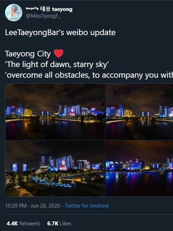 Perayaan ultah Taeyong NCT (Twitter/ MissTyongF_)
