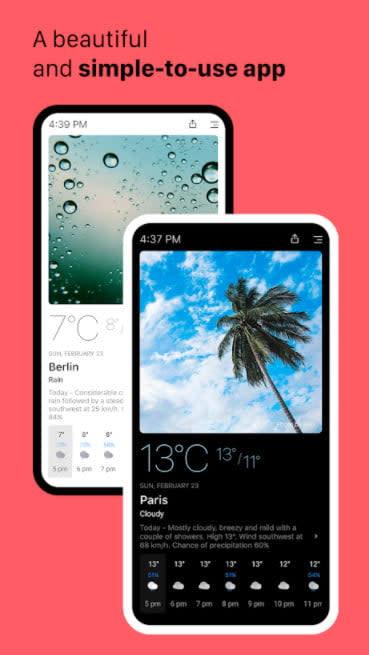 Today Weather Dark Sky alternative weather app