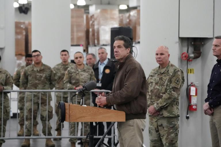 New York Governor Andrew Cuomo announces plans to convert the Jacob Javits Center on Manhattan's West Side into a field hospital