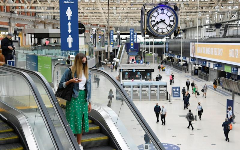 Waterloo Station still looks eerily quiet during rush hour - Reuters