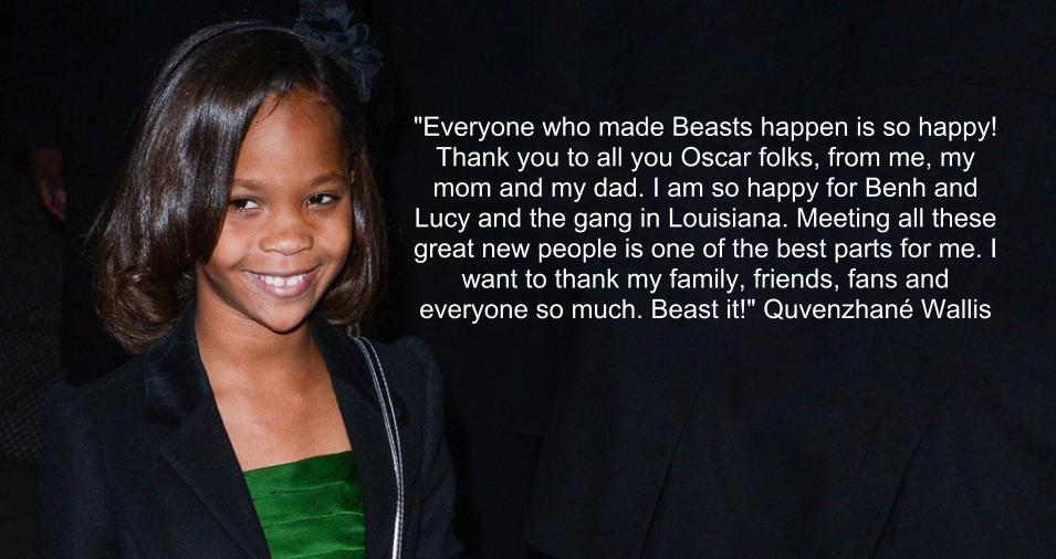 "Quvenzhane Wallis, ""Beasts of the Southern Wild"""