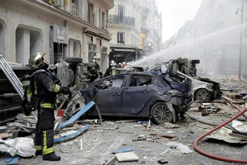 Paris explosion: A powerful gas explosion tore through a building in central Paris on Saturday.