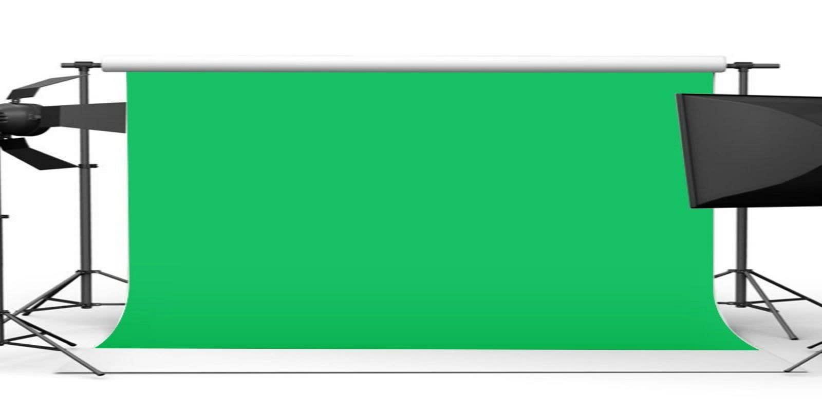 平紋細布綠色布幕背景