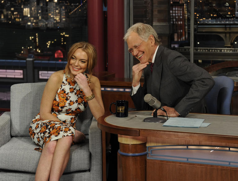 20 Classic 'Late Show' Moments We're Glad We Stayed Up For: Lindsay Lohan interview in 2013