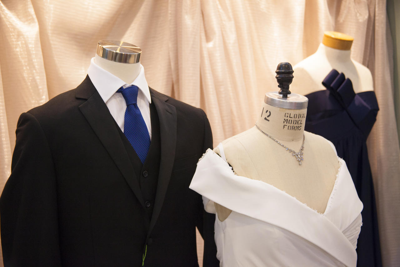<p>Wedding attire is one of the most common things that people sadly seem to leave behind. Everuthing from dresses to suits, and this full bridal party set. Photo: Supplied/UBC </p>