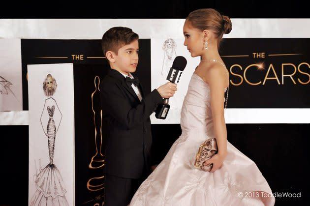 Oscars turned toddler-sized - Jennifer Lawrence