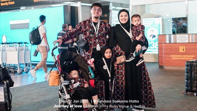 Keluarga Ricky Harun dan Herfiza Novianti. (Foto: instagram.com/jannahtravel)