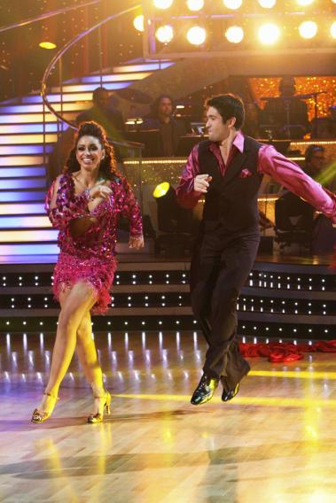 "Mya and Dmitry Chaplin perform on ""Dancing with the Stars."""