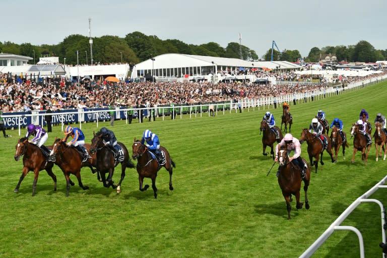 Horse racing is back in Britain after the coronavirus lockdown