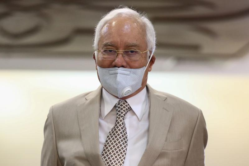 Datuk Seri Najib Razak is pictured at the Kuala Lumpur High Court June 3, 2020. — Picture by Yusof Mat Isa