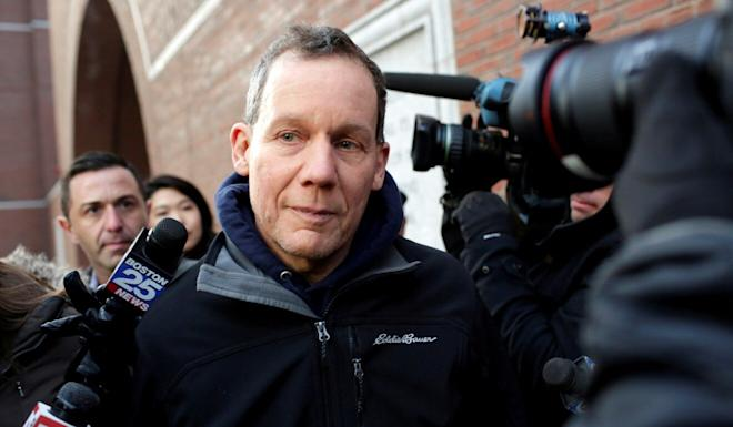 Charles Lieber, who was chairman of the Harvard chemistry department, leaves federal court in Boston on January 30 after being charged with lying about alleged links to the Chinese government. Photo: Reuters