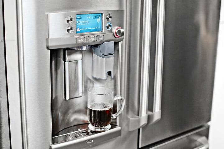 GE Café Series refrigerator with Keurig K-Cup brewing system