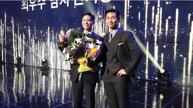 Park Seo Joon dan Park Bo Gum (tangkapan layar YouTube/ Record PARK's)
