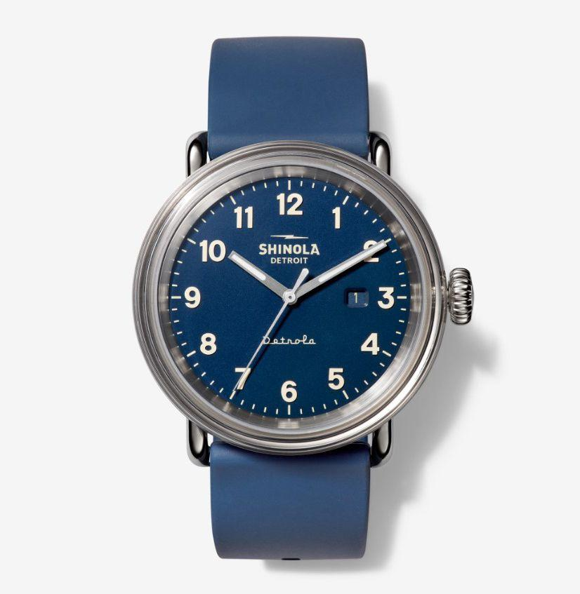 """<p><strong>Shinola</strong></p><p>bespokepost.com</p><p><strong>$395.00</strong></p><p><a href=""""https://go.redirectingat.com?id=74968X1596630&url=https%3A%2F%2Fwww.bespokepost.com%2Fstore%2Fshinola-the-daily-wear&sref=https%3A%2F%2Fwww.esquire.com%2Flifestyle%2Fg32433394%2Fbespoke-post-fathers-day-gifts%2F"""" target=""""_blank"""">Buy</a></p><p>If dad doesn't yet have a blue leather timepiece to pair with pretty much any fit, he should. And it should be this impeccably designed watch from Shinola will sure as hell beat what his company gifted him on his 10-year work anniversary. </p>"""
