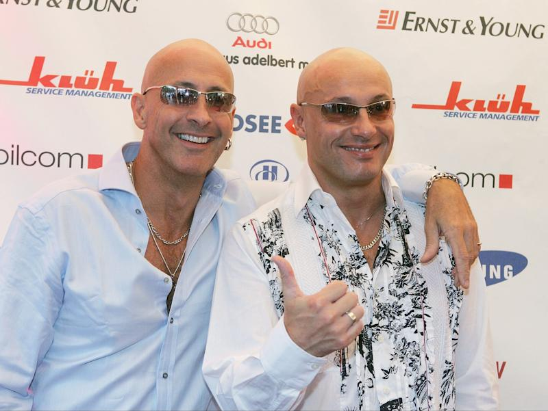 Richard (left) and Fred Fairbrass of Right Said Fred in 2005 (Getty Images)