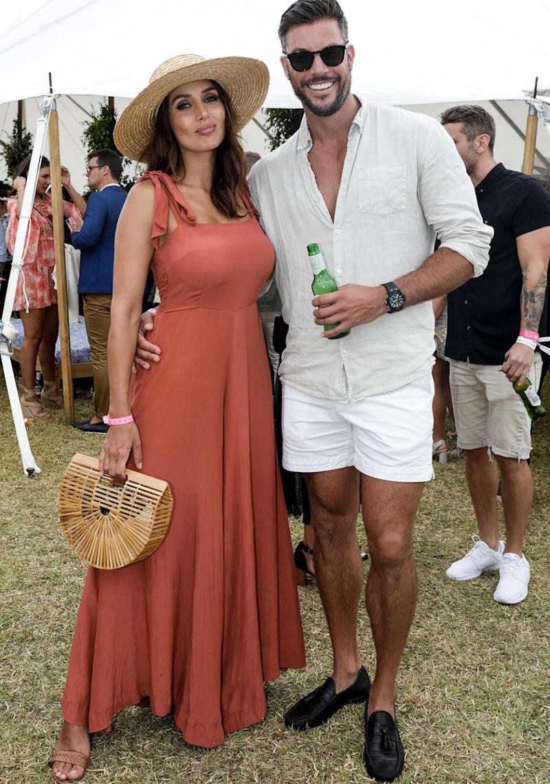 Sam Wood has confirmed he and Snez will marry at the end of 2018. The pair are here at the Portsea Polo together last month. Source: Getty
