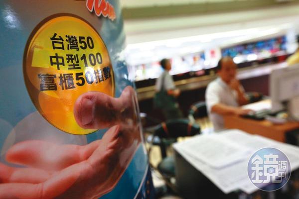 台灣50、中型100成分股成交量大,籌碼參考價值較佳。
