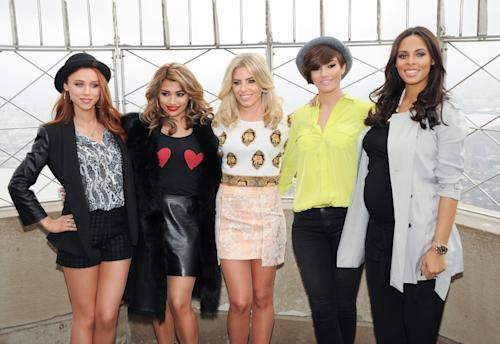 FILE - This March 11, 2013 photo shows British girl group The Saturdays, from left, Una Healey, Vanessa White, Mollie King, Frankie Sandford and Rochelle Humes at the Empire State Building observation deck in New York. The Saturdays is one of a new crop of girl groups currently on the music scene. (Photo by Evan Agostini/Invision/AP, File)