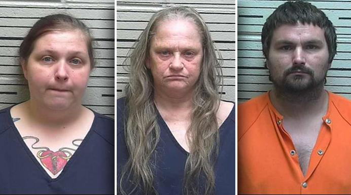 Danielle Nicole Martin, Vickie Seale Higginbotham and Joshua Daniel Martin were all arrested after a 13-year-old boy was found naked and chained up in a home in Prattville, Alabama.