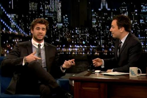 'Hunger Games' Star Liam Hemsworth Talks Real-Life Childhood Hunger Games on 'Late Night' (Video)