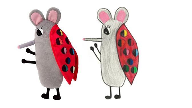 MYŠLIENKA dirancang oleh Maria, 9 tahun, pemenang kompetisi menggambar boneka oleh IKEA. (dok. IKEA)