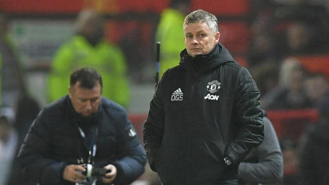 Manajer Manchester United, Ole Gunnar Solskjaer. (Paul Ellis/AFP)