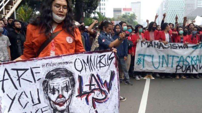 Demo Omnibus Law di Istana, Polisi Jaga Ketat Mal-mal Jakarta Selatan