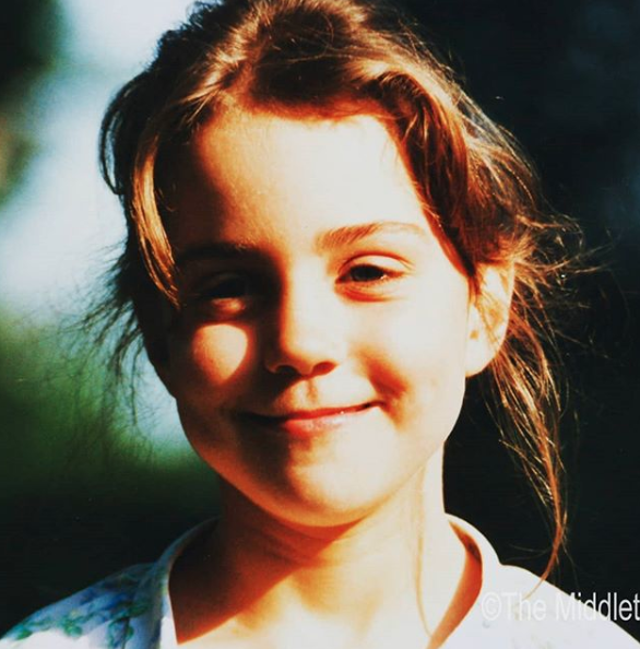 <p>Wild hair, don't care. The Middleton family has shared this photo of a young Catherine.<br /><em>(Image via the Middleton Family)</em> </p>