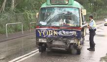 元朗兩小巴相撞 十人輕傷送院