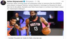 NBA/就是要去籃網!傳哈登拒絕火箭29億天價續約