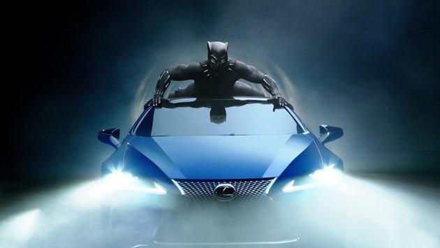 《黑豹》電影中的車款來自Lexus LC 500 Limited Edition風馳藍車色