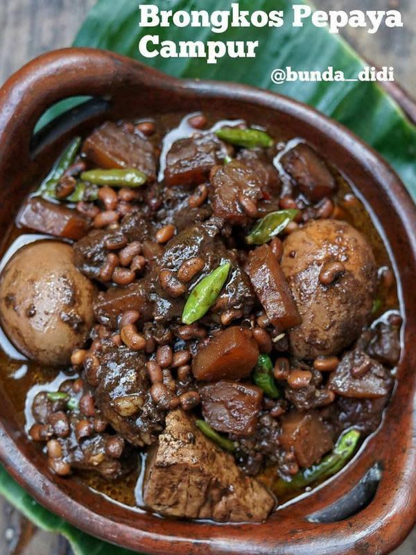 ilustrasi resep makanan berbahan dasar bumbu hitam yang gurih dan enak/Instagram: @bunda_didi