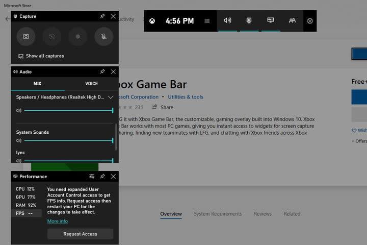 Image of Microsoft Game Bar