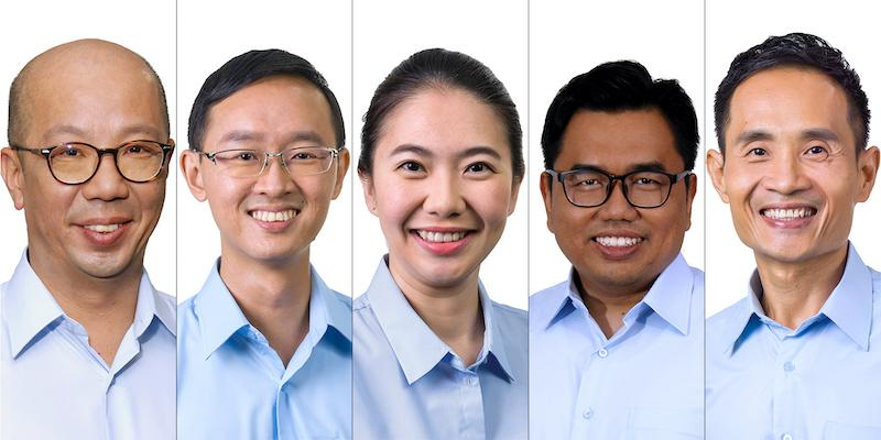 On Saturday, 27 June 202, the Workers' Party unveiled five new candidates for the 10 July General Election (L-R): lawyer Terence Tan, 49; IT professional Nathaniel Koh, 36; contracts administrator Tan Chen Chen, 38; lawyer Muhammad Fadli, 39; and Singapore Cancer Society deputy director Kenneth Foo. PHOTO: Workers' Party