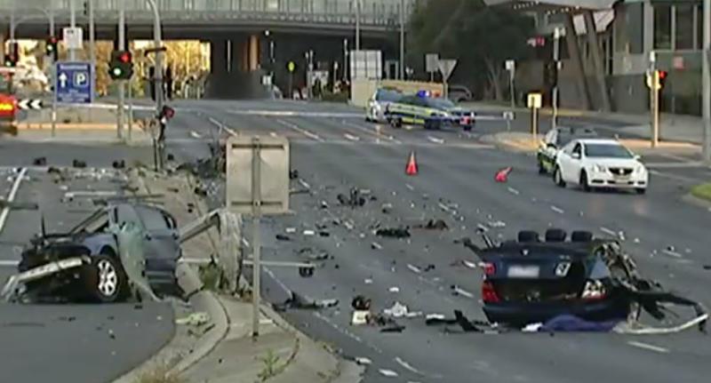 Car Split In Three In Horror Crash That Killed Driver